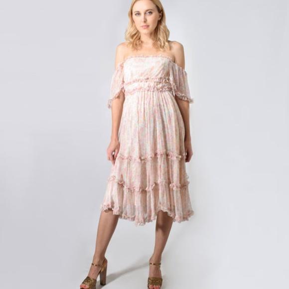 64823a2ae9 Love Sam Sadie Midi Dress in Sunny Meadow Print